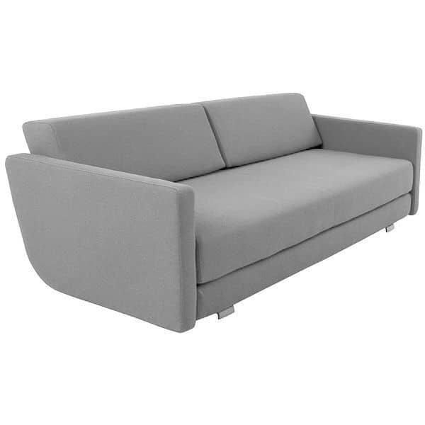 LOUNGE Sofa, REMIX and CRISP fabrics, convertible Sofa, 3 seater, Chaise longue: beautiful combinations - deco and nordic design, SOFTLINE