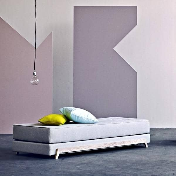 FRAME SOFABED, elegant Nordic Liege - einfach zu verwandeln, einfach zu bedienen, SOFTLINE