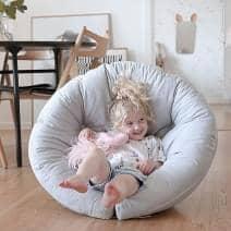 LITTLE NEST, uma cadeira de casulo, que é também um futon, acolhedor e muito confortável para o seu filho - deco e design