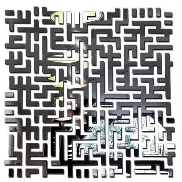 Miroir décoratif LOST : un miroir carré très esthétique - 98 x 98 cm