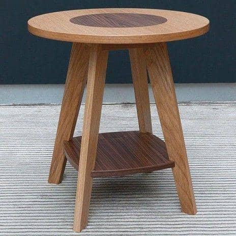 Table d'appoint en chêne et noyer KENSAY