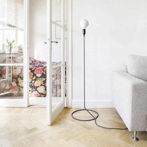 Charming ... CORD LAMP Table Lamp Transforms The Electric Wire Into Foot Of Standard  Lamp ...