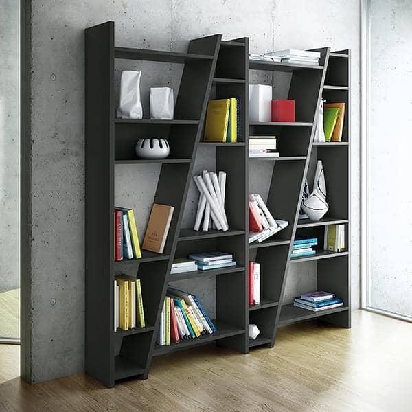 DELTA 1 til 5 kolonner hylder, vendbar systemet, træ mat lakering - deco og design, TEMAHOME