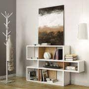 LONDON sistema de estantes, es espacioso y contemporáneo, tres dimensiones, varias opciones de acabado, sistema reversible - TEMAHOME