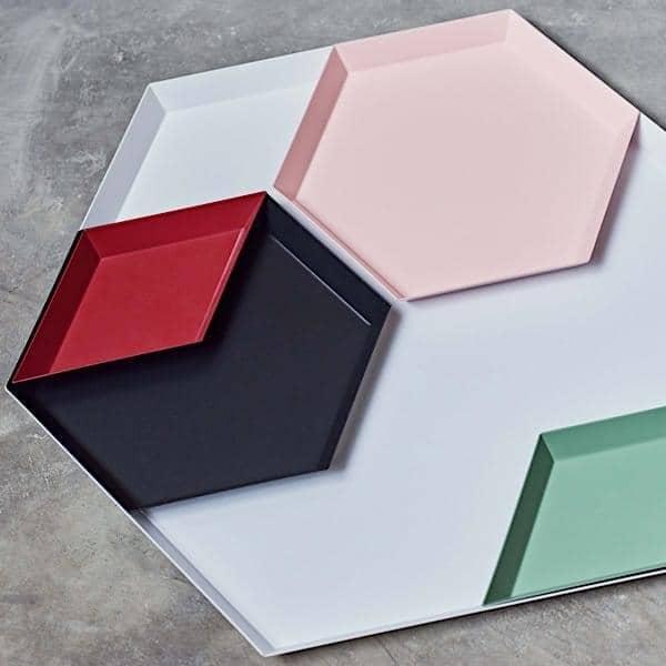 KALEIDO, Lackiertem Stahlwannen, HAY, In Fünf Klugen Geometrische Formen  Für Verschiedene Zwecke   Deko Und Design