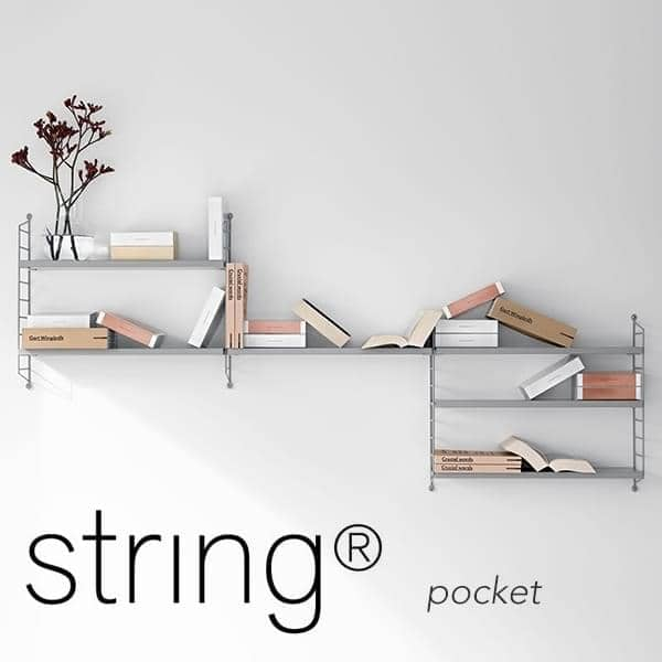 STRING POCKET sistema di scaffalatura modulare, la versione originale, prodotta in Svezia. - Deco e del design