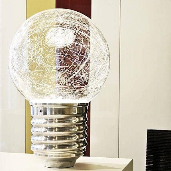 NEPTUNE una lámpara de pie o una lámpara de mesa, en aluminio pulido y vidrio soplado o PMMA - deco y diseño