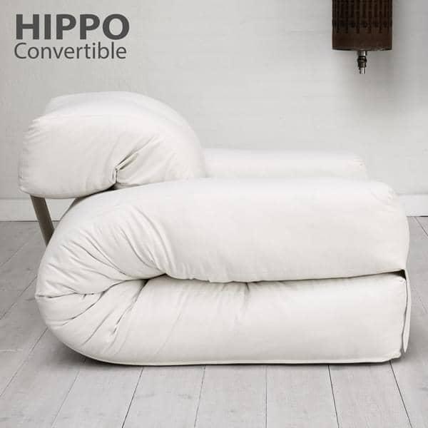 Hippo un sill n o un sof que se convierte en un c modo - Que es un futon ...