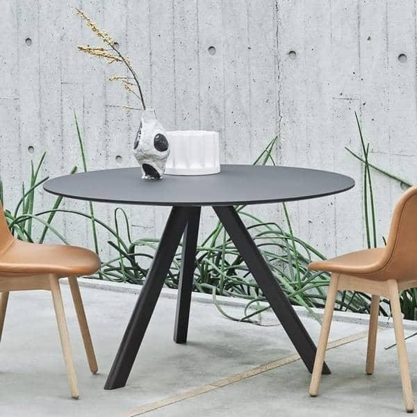 La tavola rotonda copenhague cph20 e chp25 realizzata in for Tavola da pranzo in legno