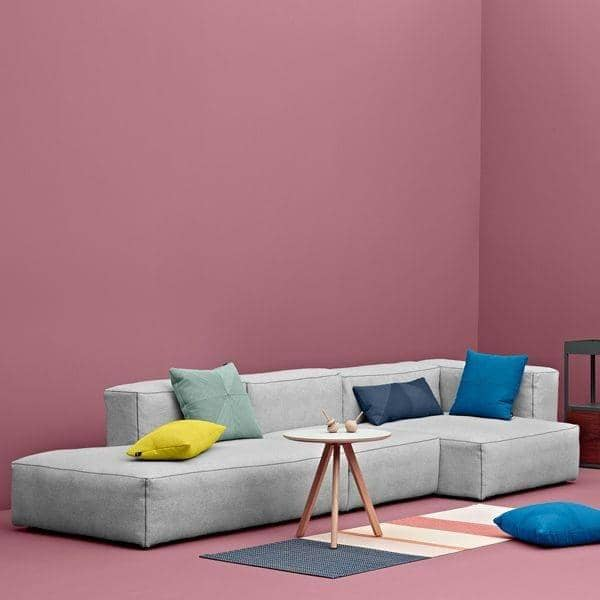 Sofa MAGS SOFT en tissu ou en cuir, les modules. HAY