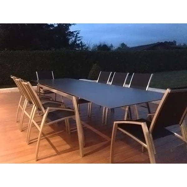 Fauteuil et chaise indoor et outdoor ALCEDO, en inox et BATYLINE, Réf 2MD et 2MR, fabriqué en Europe par TODUS