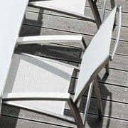 פנימית וחיצונית ALCEDO כורסא, עם משענת יד גזוזות, משענת גבוהה, נירוסטה BATYLINE Ref 2M2, שנעשה באירופה על ידי Todus