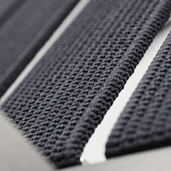Fauteuil ALCEDO-EB, inox brossé et Bandes élastiques, accoudoirs garnis, indoor / outdoor, fabriqué en Europe