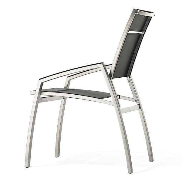 fauteuil alcedo inox bross et cuir teint todus. Black Bedroom Furniture Sets. Home Design Ideas