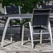 Sillón, ALCEDO, acero inoxidable y cuero genuino, apoyabrazos recortadas, de interior y al aire libre, hecho en Europa por TODUS - diseñado por JIRI SPANIHEL