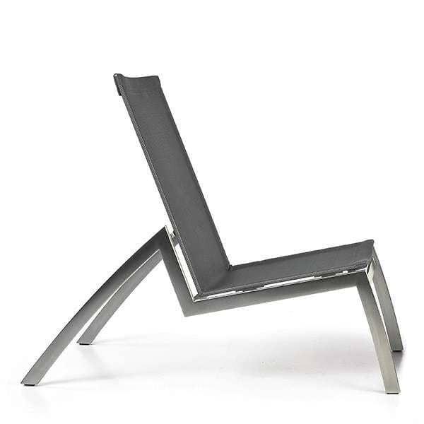Chaise longue, ALCEDO, aço inoxidável e BATYLINE, interior e exterior, feitos na Europa por TODUS - desenhado por JIRI SPANIHEL
