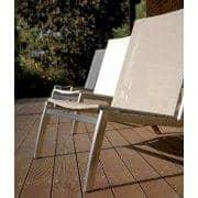 Chaise basse (chauffeuse) ALCEDO, inox brossé et BATYLINE, indoor / outdoor, fabriqué en Europe
