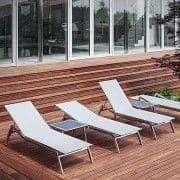 サンラウンジャー、 ALCEDO 、ステンレス、 BATYLINEでヨーロッパ製の屋内と屋外、 TODUS -によって設計されJIRI SPANIHEL