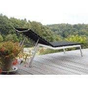 Tumbona, ALCEDO - EB, de acero inoxidable y correas elásticas, de interior y al aire libre, hecho en Europa por TODUS - diseñado por JIRI SPANIHEL