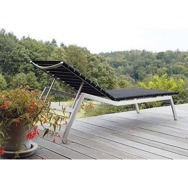 Sunlounger, ALCEDO - EB, rustfrit stål og elastiske bælter, indendørs og udendørs, lavet i Europa ved TODUS - designet af JIRI SPANIHEL