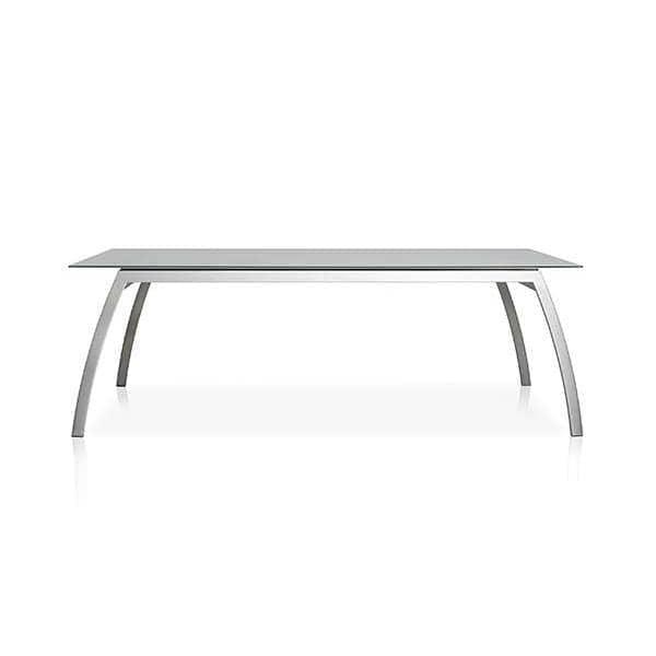 Spisebord, ALCEDO FORNIX F1 af TODUS, tidløse, robuste, rene linjer, med eller uden forlængelse: perfekt til brug på terrassen eller i din stue