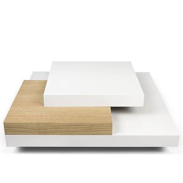 SLATE, table basse : l'effet béton avec la souplesse de matériaux légers