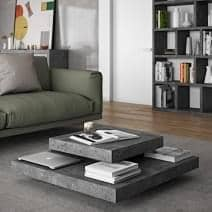 SLATE, mesa de café: El efecto concreto con la flexibilidad de los materiales ligeros - diseñado por IN ès MARTINHO