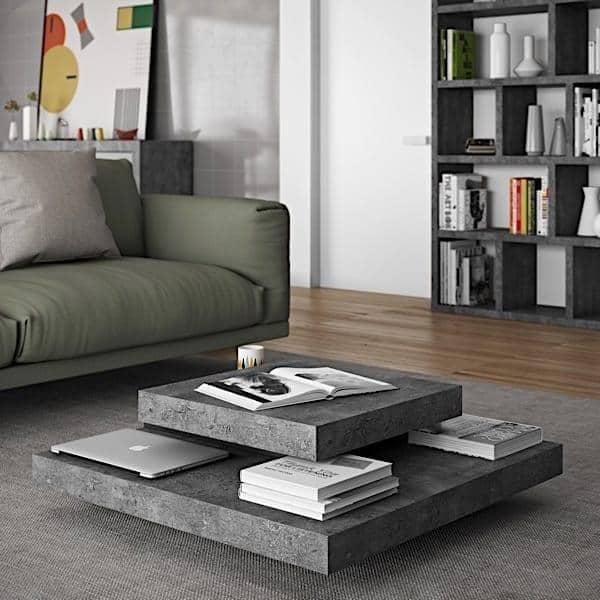 Elegant SLATE, Couchtisch: Die Konkrete Wirkung Mit Der Flexibilität Von Leichten  Materialien   Designed By IN ES MARTINHO