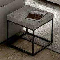 PETRA, mesa de centro y mesa auxiliar: aspecto concreto y acero, sin hormigón - diseñado por IN ès MARTINHO
