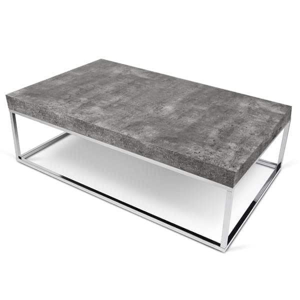 PETRA, table d'appoint ou table basse : le béton et l'acier, sans le béton - designer : INÊS MARTINHO