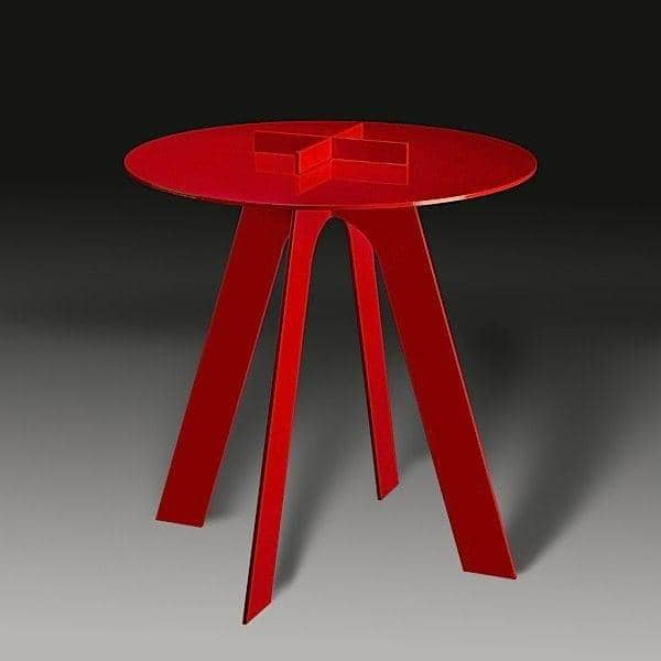ニス塗りのスチールテーブルPLUSどこにでも適しています-デコとデザイン、 GAEAFORMS