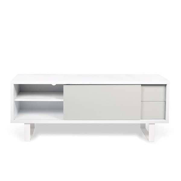 NILO, TV Table Or Low Sideboard : Metal Legs, Sliding Door, Drawers.
