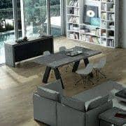 KOBE, Aparador contemporáneo, con una impresionante capacidad de almacenamiento. También disponible en aspecto concreto - diseñado por TEMAHOME