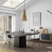 DUSK, firkantet spisebord, 130 eller 150 cm, nesten en skulptur! - Designet av Delio VICENTE