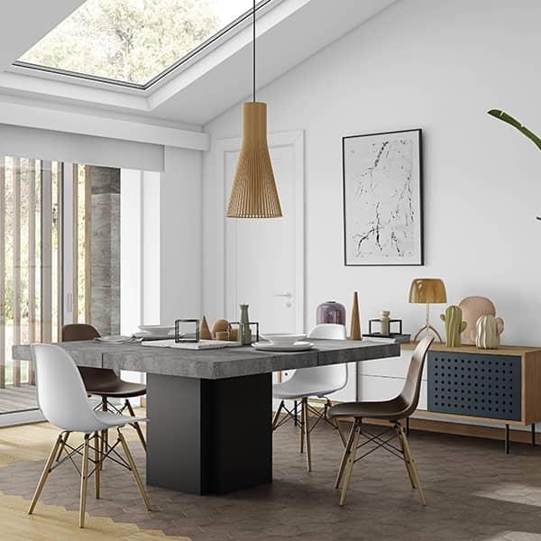 DUSK, quadratischen Esstisch, 130 oder 150 cm, fast eine Skulptur! - Von Delio entworfen VICENTE