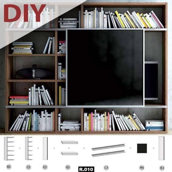 POMBAL DIY creare il proprio sistema di scaffalatura compartimenti stagni, dalla A alla Z. Biblioteca, TV mobile, soluzioni di storage - Progettista: TemaHome