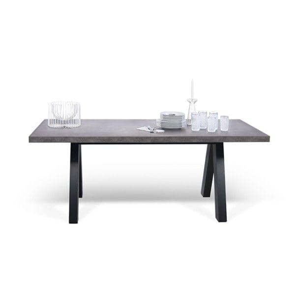 APEXダイニングテーブル、コンパクトまたは伸縮式200/250 cm x 100 cm:コンクリート製