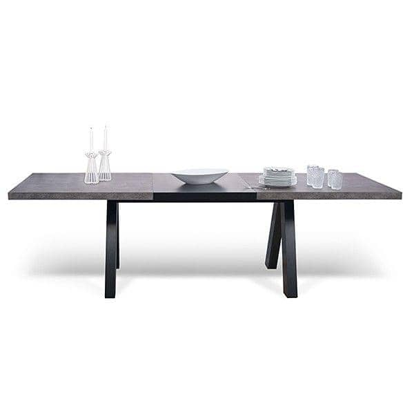 ... APEX Dining Table, Compact Or Extendable 200/250 Cm X 100 Cm: Concrete  ...