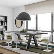 Mesa de comedor APEX, compacta o extensible 200/250 cm x 100 cm: aspecto de hormigón