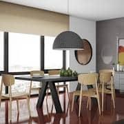 APEX dining table, compact or extendable 200/250 cm x 100 cm: concrete aspect
