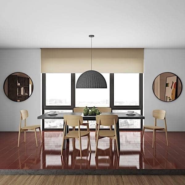 """שולחן אוכל APEX, קומפקטי או להארכה 200/250 ס""""מ x 100 ס""""מ: היבט בטון"""