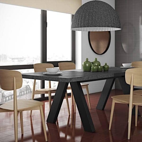 APEX, table de salon compacte ou extensible : aspect béton ou chêne sauvage