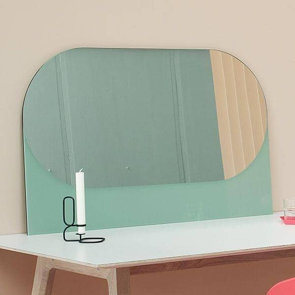 SHAPES: functional mirrors, mirror and lacquered wood