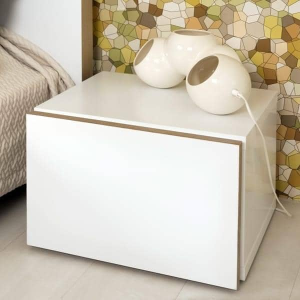 FLOAT, night table, with 1 drawer: small in size, this furniture will fit the even in the smallest apartments.