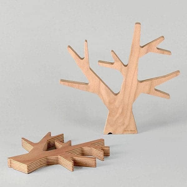 L'Arbre, dessous de plat, multiplis hêtre, design éco-responsable