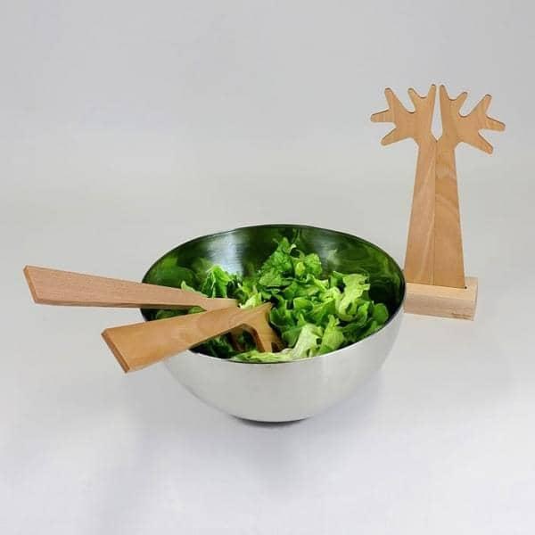 Du Bout des branches, couverts à salade, hêtre massif, design éco-responsable