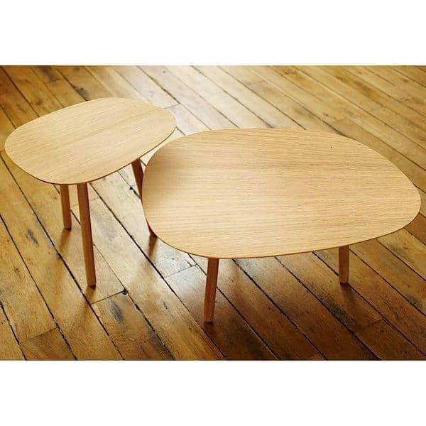 Petit salon peque a mesa de centro roble macizo reine m re for Mesa salon madera