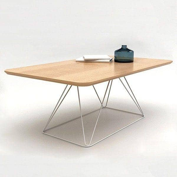 RUBY, coffee table, beech plywood with oak vener, eco-design