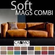MAGS SOFA SOFT, modular combinations, in leather