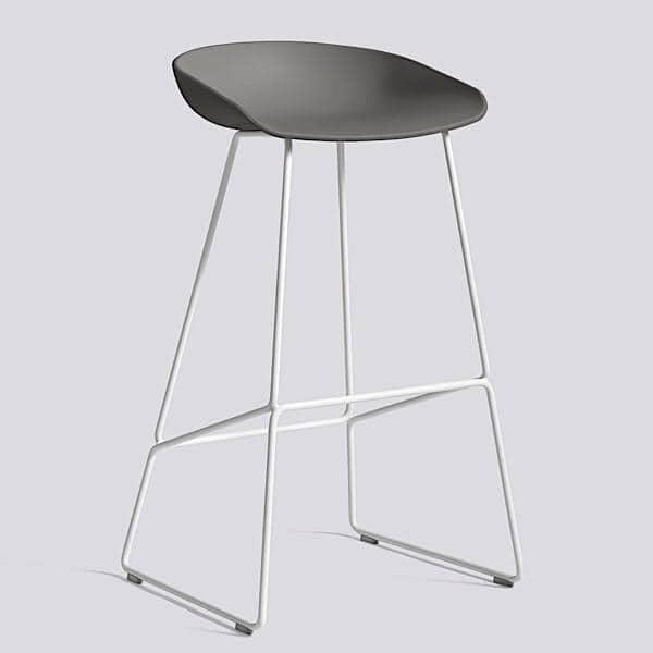 ABOUT A STOOL, stool bar by HAY - ref. AAS38 e AAS38 DUO - Base de aço, revestimento de polipropileno